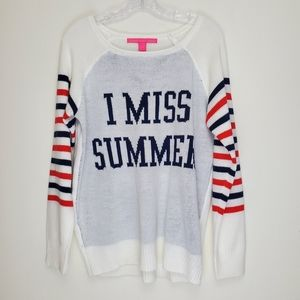 Rebellious One I Miss Summer striped sweater F
